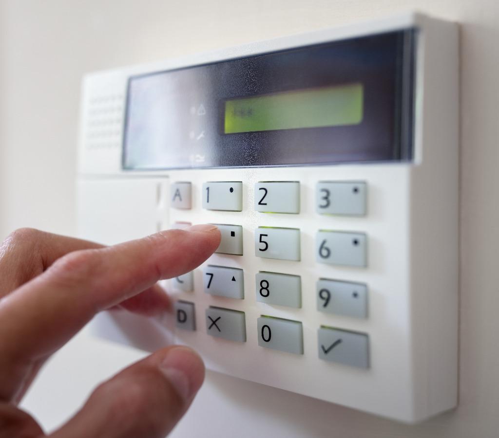 Bedieung von elektronischem Einbruchschutz
