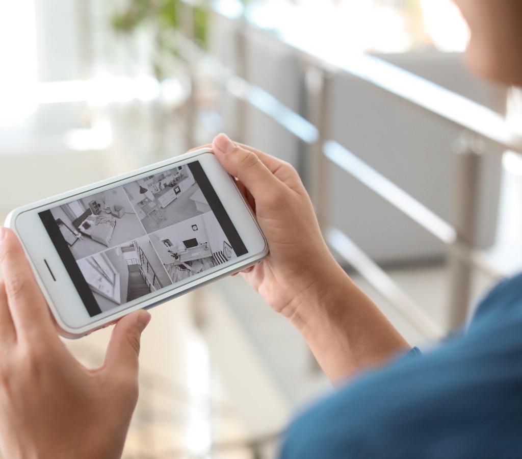 Handy mit Überwachsungsvideos